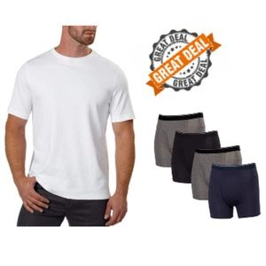 NEW Lot of 9 Kirkland Men's Tee's & Boxer Briefs L